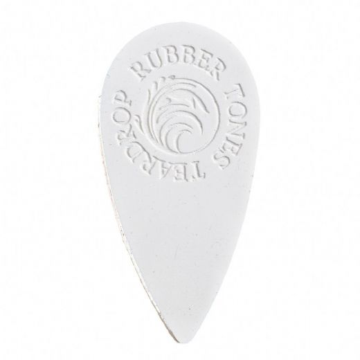 Rubber Tones Teardrop White Silicon 1 Pick